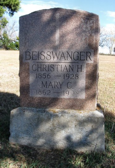 Christian and Mary Beisswanger tombstone