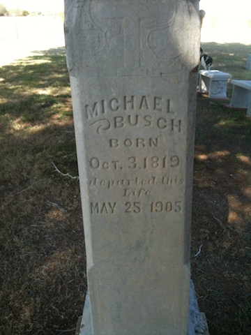 Michael Andrew Busch Gravestone sm